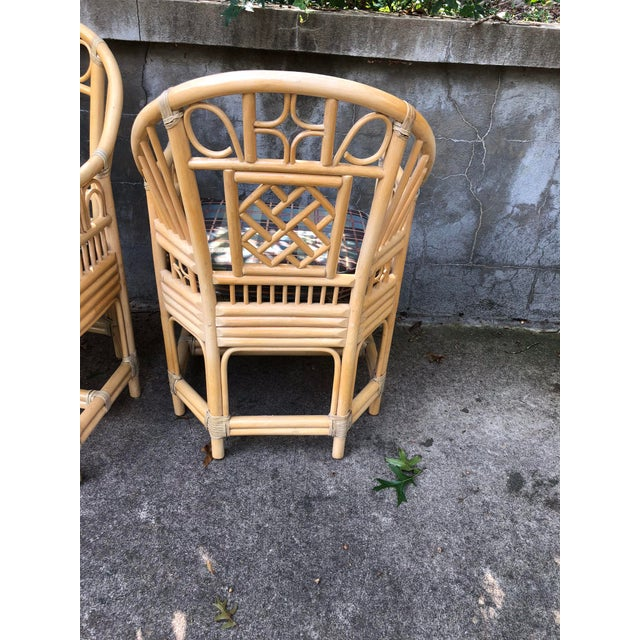 Brighton Pavilion Style Bamboo armChairs- a Pair For Sale In Raleigh - Image 6 of 7