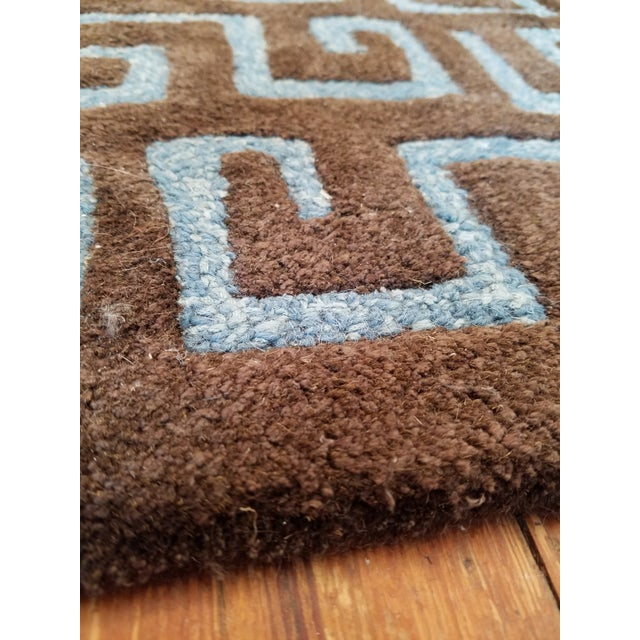 "Contemporary Safavieh Brown Pile ""Soho"" Runner - 2′6″ × 10′ For Sale - Image 3 of 6"