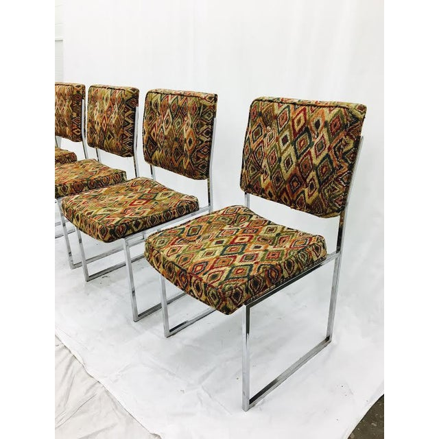 Vintage Mid-Century Modern Chrome Frame Chairs - Set of 4 For Sale - Image 5 of 11