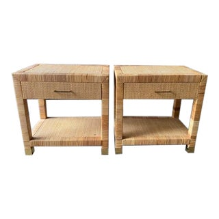 Pair, Mid Century Bielecky Brothers Side Tables, Night Stands For Sale