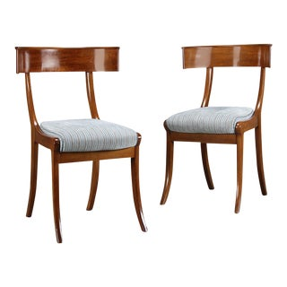 Danish 19th Century Klismos Side Chairs - A Pair