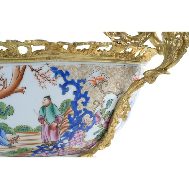 French Chinoiserie Gilt Bronze Mounted Bowl For Sale - Image 9 of 9