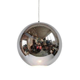 Vintage 1960 Mirrored Glass Globe Lamp For Sale