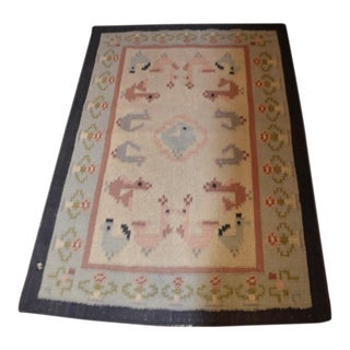 Don Freedman Large Woven Rug - 4′2″ × 6′4″