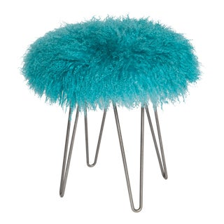 Turquoise Curly Hairpin Stool For Sale