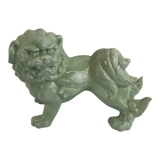 Celadon Porcelain Foo Dog For Sale