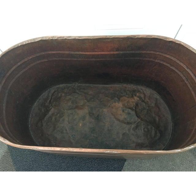 Vintage Copper Boiler Wash Tub Basin For Sale - Image 4 of 10