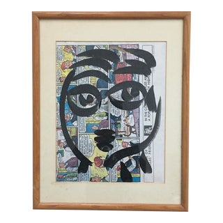 Peter Keil Abstract Painting on Comic Strip For Sale