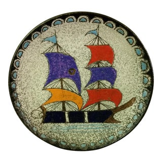 Ship at Sea Decorative Wall Plate For Sale
