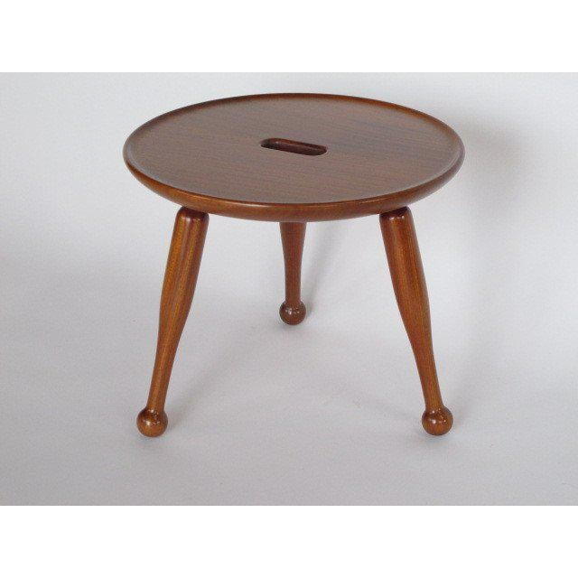 Wood Josef Frank Three Legged Stool For Sale - Image 7 of 7