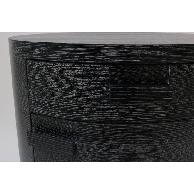 Pair of Bedside Chest, Style of Jay Spectre in Cerused Black Oak - Image 7 of 10