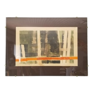 """1970 E. R. Griffing """"Woodland Passage"""" Abstract Painting For Sale"""