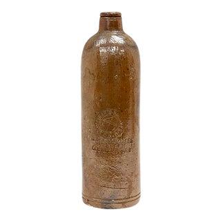 19th Century Dutch Salt Glazed Gin Bottle, C. 1850s For Sale