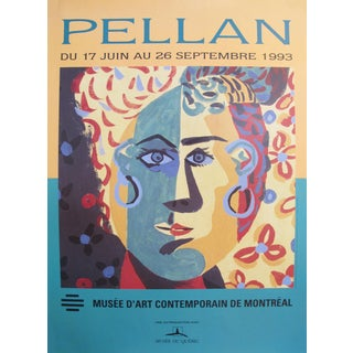 Alfred Pellan Exhibition Poster, Fauvist Portrait of a Lady