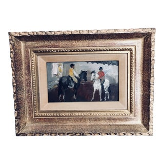Early 20th Century Antique Edgar A Whitney Oil on Board Signed Painting For Sale
