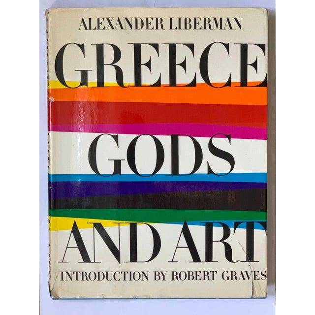 Canvas Vintage 1968 Greece, Gods and Art Book Alexander Liberman For Sale - Image 7 of 7