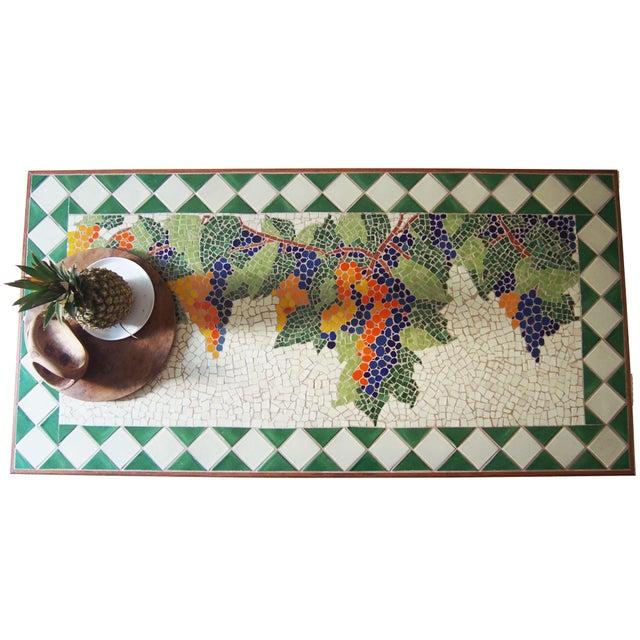 Tuscan Style Custom Vineyard Mosaic Kitchen Table - Image 2 of 3