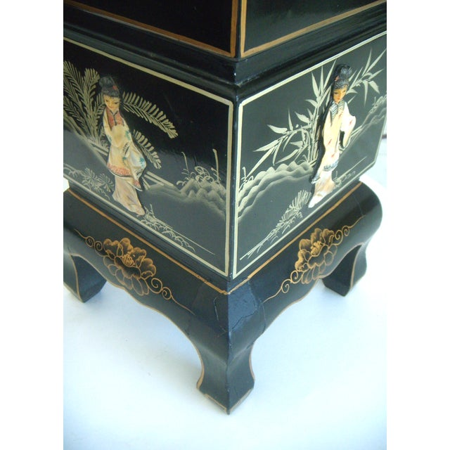 Vintage Lacquered Chinese Lanterns - A Pair For Sale - Image 9 of 9