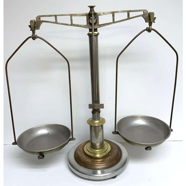 Antique Italian Mixed Metal Fruit Scale For Sale In West Palm - Image 6 of 13