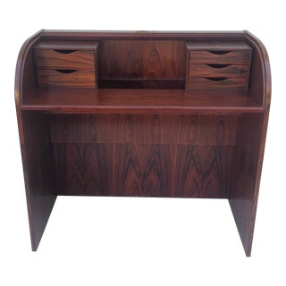 Poul Hundevad Rolltop Rosewood Vanity Table or Desk For Sale