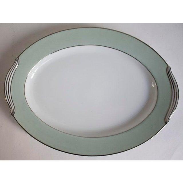 Noritake Noritake China Greencourt Pattern Oval Platter For Sale - Image 4 of 4
