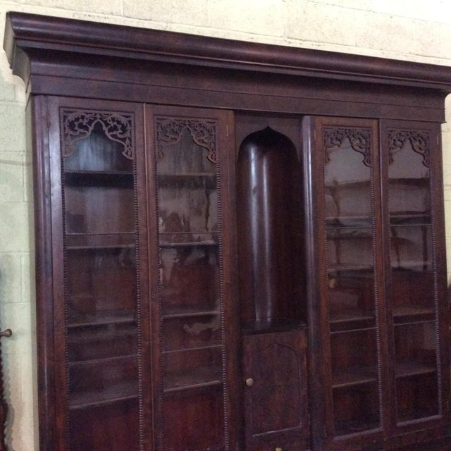 Mahogany Classical Gentleman's Secretary Bookcase For Sale In Boston - Image 6 of 8