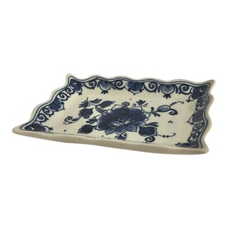 Vintage Delft Blue & White Miniature Tray For Sale