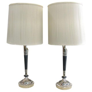 Pair of Rembrandt Column Lamps For Sale