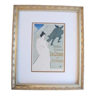 Toulouse Lautrec 1950 La Gitane Framed Poster
