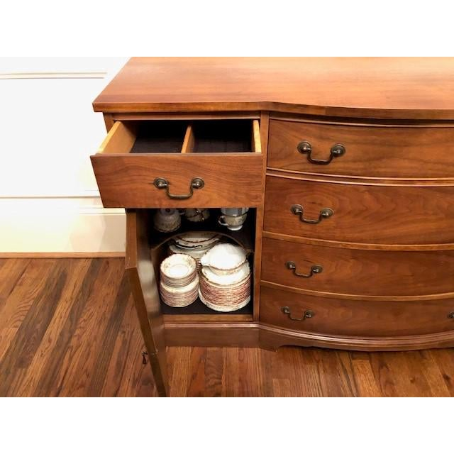 Wood Brickwede Solid Walnut Buffet For Sale - Image 7 of 8