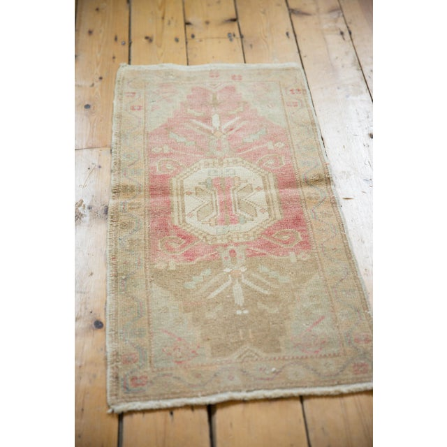 "Old New House Vintage Distressed Oushak Rug Mat - 1'6"" X 3' For Sale - Image 4 of 7"