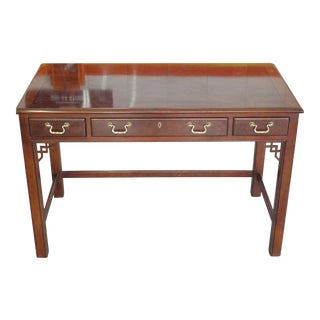 1970s Drexel Chippendale Writing Desk With Drawers For Sale