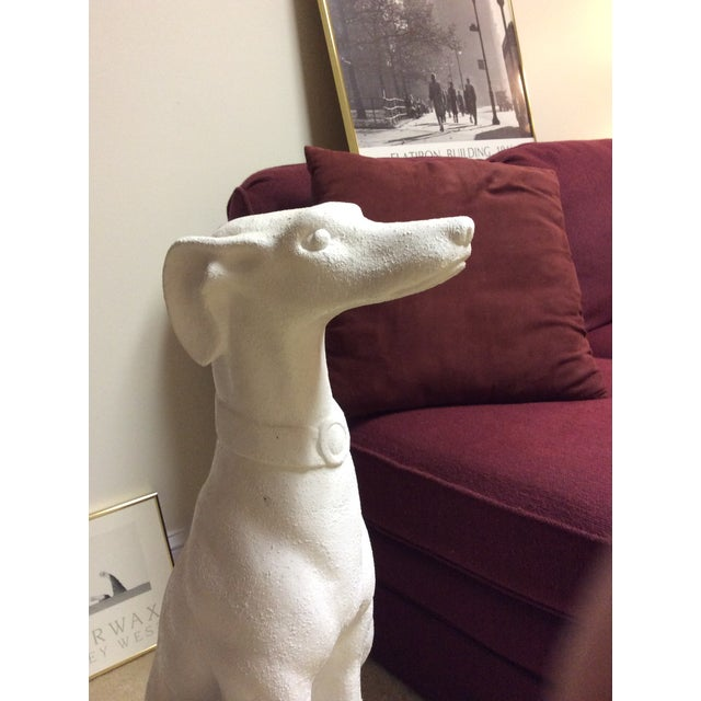Hollywood Regency White Whippet Statue For Sale - Image 3 of 7