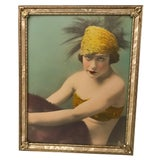 Image of Silent Movie Actress Colorized Photo, Framed For Sale