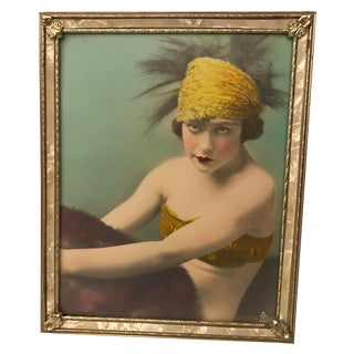 Silent Movie Actress Colorized Photo, Framed For Sale
