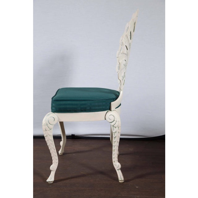 White Set of Eight Shell Back Dining Chairs For Sale - Image 8 of 10