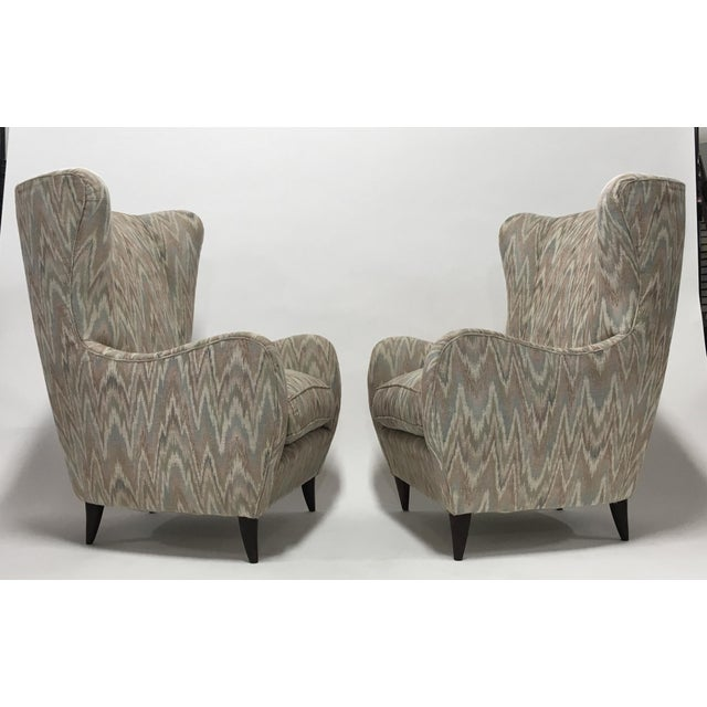 Italian High Back Lounge Chairs - A Pair - Image 2 of 11