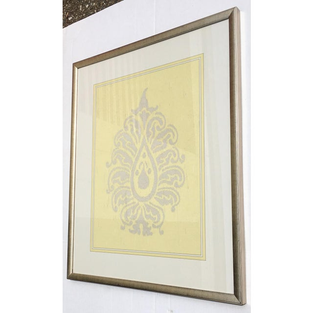 Yellow & Silver Damask Wall Art #2 by Iconic Pineapple - Image 3 of 5