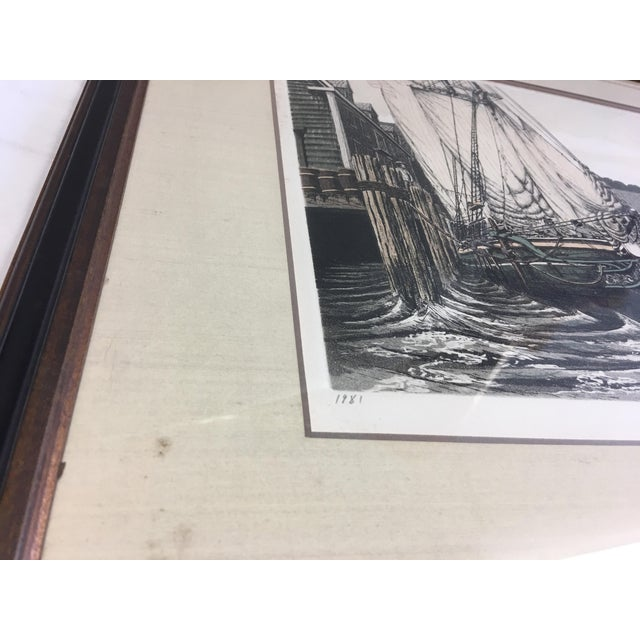 """1981 Alan Jay Gaines """"The Lookout"""" Aquatint Print For Sale - Image 5 of 9"""