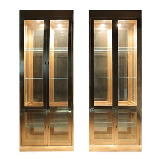 Mastercraft Brass Cabinets - a Pair For Sale