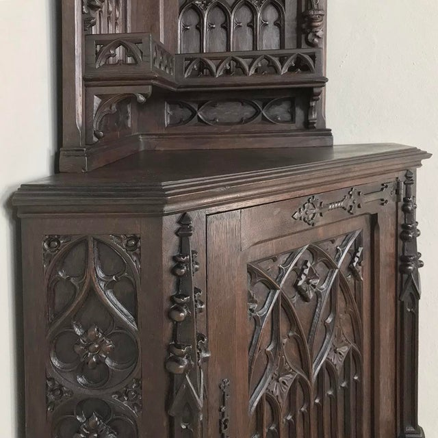 19th Century French Gothic Corner Cabinet For Sale - Image 11 of 13