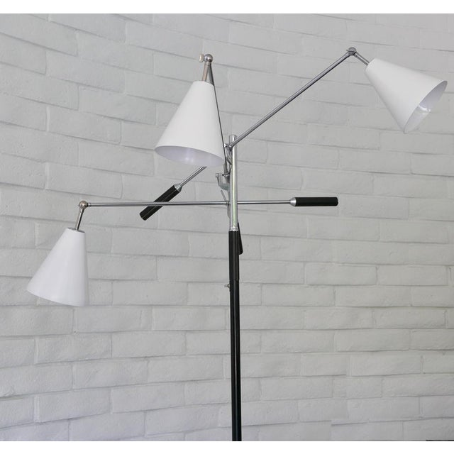 Angelo Lelii 1960s Classic Triennale Three-Arm Floor Lamp For Sale - Image 4 of 7