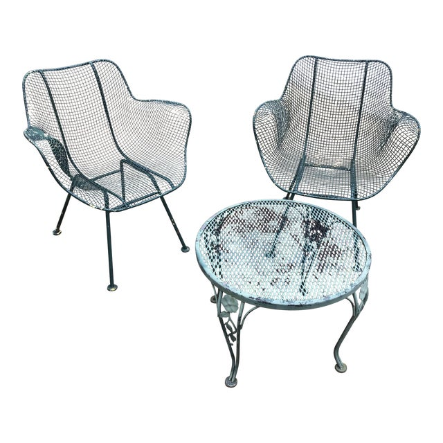 Sculptura Chair Table Russell Woodard Patio Set - 3 Pieces Last Call For Sale