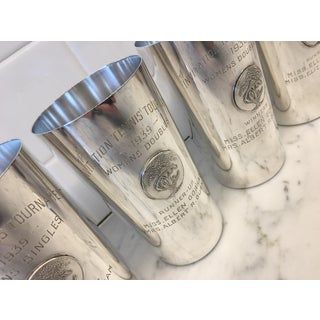 1930's Country Club Tennis Trophy Sterling Julep Cups - Set of 4 Preview