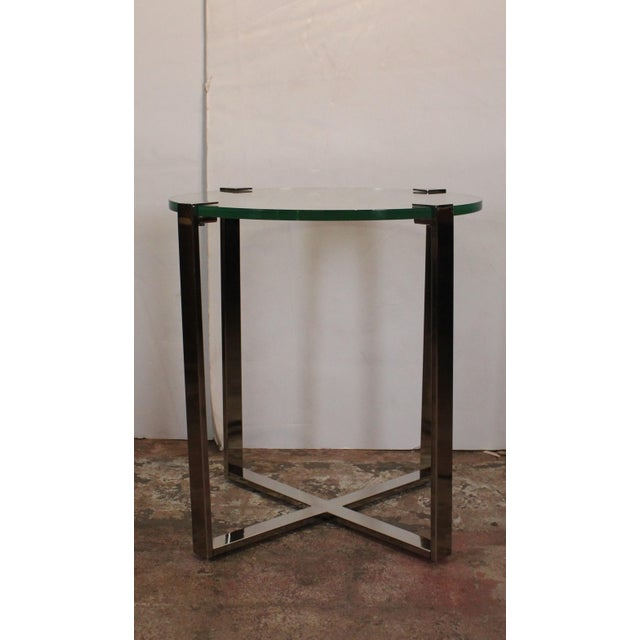 20th Century Contemporary Chrome Accent Table For Sale - Image 4 of 4