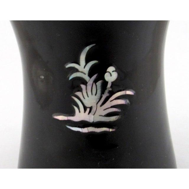 Amazing Vintage Korean Black Lacquer Over Brass Vase Cjindustries Chair Design For Home Cjindustriesco