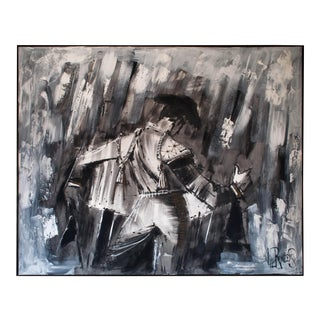 Large Moderist Matador Oil on Canvas Painting by Lee Reynolds For Sale