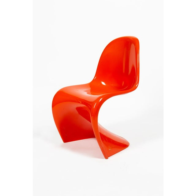 Contemporary Orange Verner Panton S-Chair For Sale - Image 3 of 12