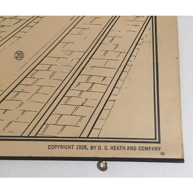 1926 Vintage Heath's Modern Language Wall Chart No. 7 Double-Sided Classroom Poster For Sale In Tampa - Image 6 of 7