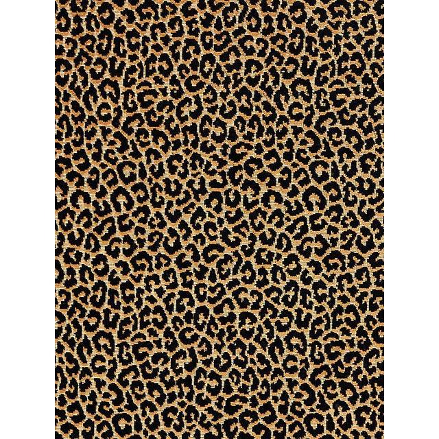 Transitional Scalamandre Panthera Velvet, Ebony Fabric For Sale - Image 3 of 3